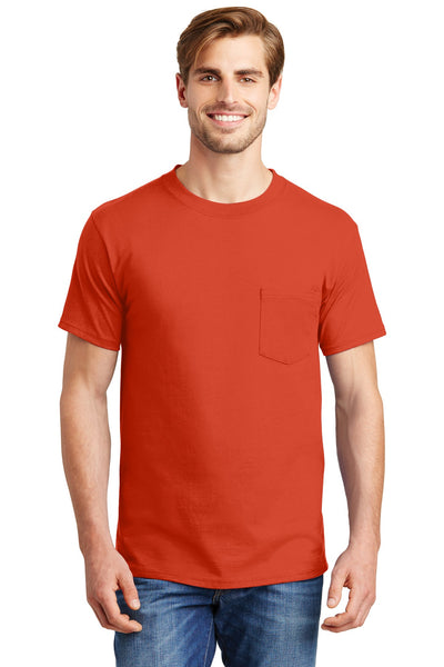Hanes® Beefy-T® - 100% Cotton T-Shirt with Pocket. 5190