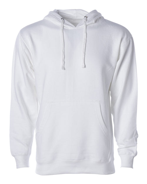 Midweight Hooded Pullover Sweatshirt (White)