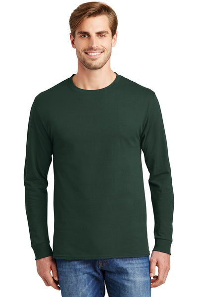 Hanes® - Tagless® 100% Cotton Long Sleeve T-Shirt.  5586