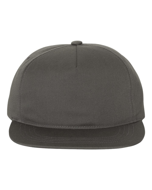 Unstructured Five-Panel Snapback Cap