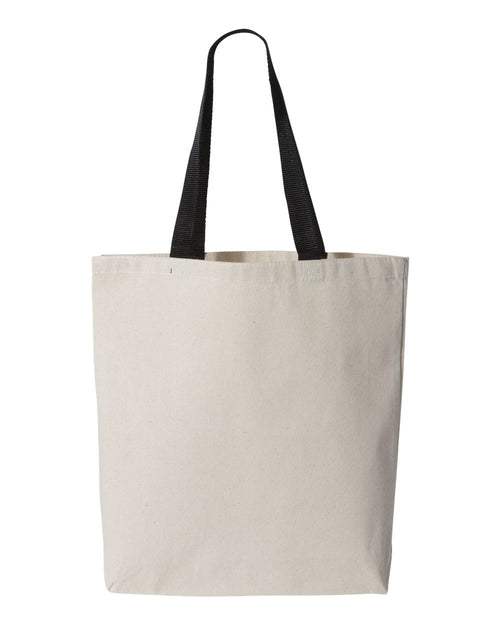 11L Canvas Tote With Color Handles