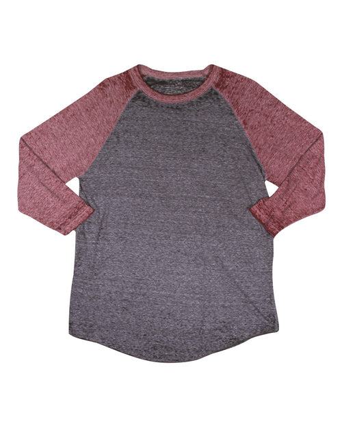 Three Quarter Sleeve Raglan Burnout
