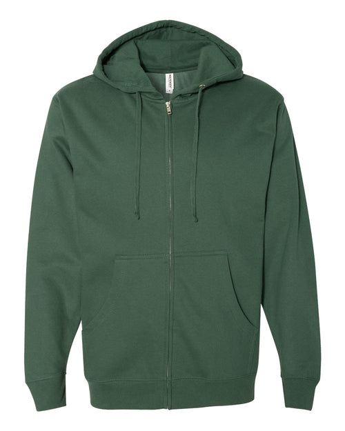 Midweight Hooded Full-Zip Sweatshirt (Alpine Green)