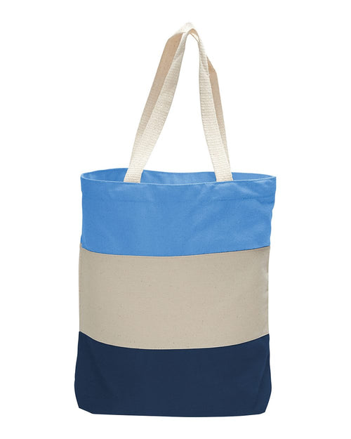 Canvas Tri-Color Tote Bag