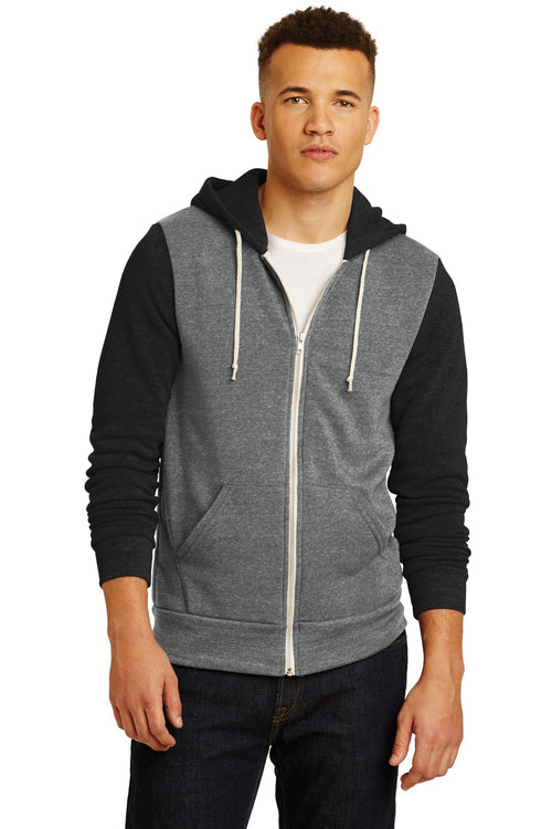 Alternative Colorblock Rocky Eco™-Fleece Zip Hoodie. AA32023