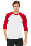 BELLA+CANVAS ® Unisex 3/4-Sleeve Baseball Tee. BC3200