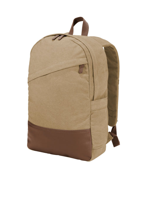 Port Authority ® Cotton Canvas Backpack. BG210