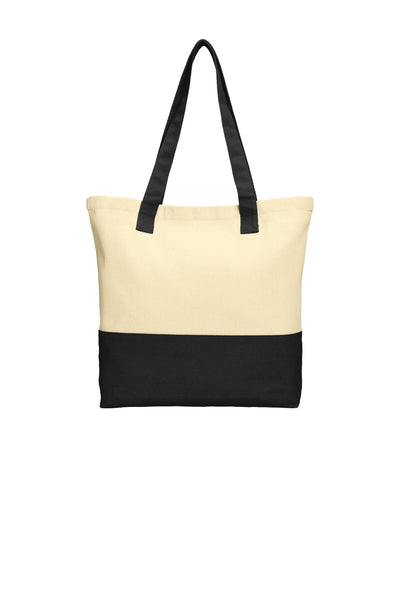 Port Authority® Colorblock Cotton Tote. BG414