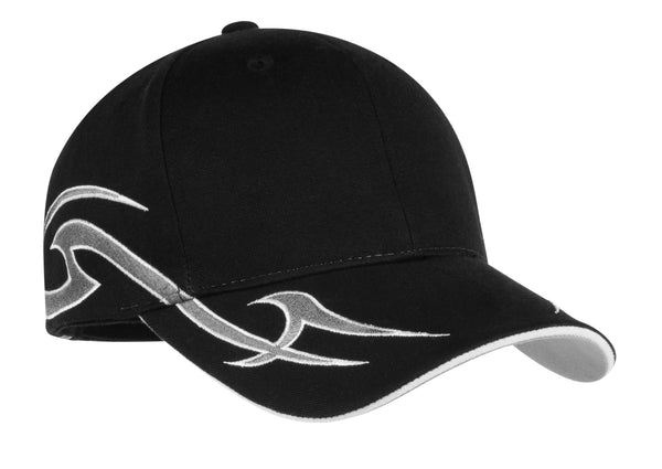 Port Authority® Racing Cap with Sickle Flames.  C878