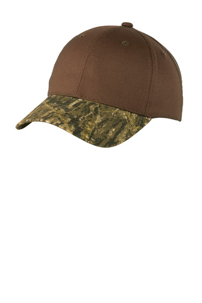 Port Authority® Twill Cap with Camouflage Brim. C931