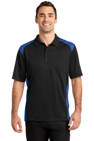 CornerStone® Select Snag-Proof Two Way Colorblock Pocket Polo. CS416