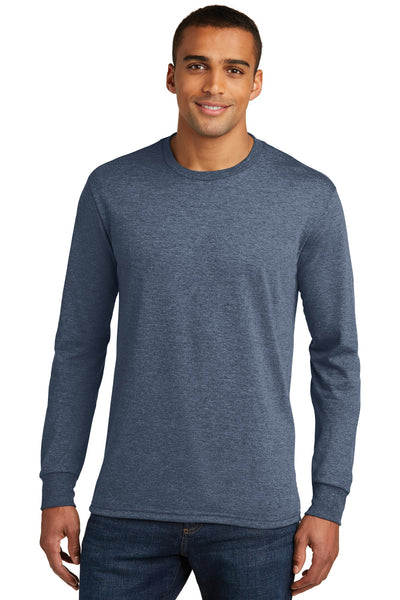 District Made® Mens Perfect Tri® Long Sleeve Crew Tee . DM132