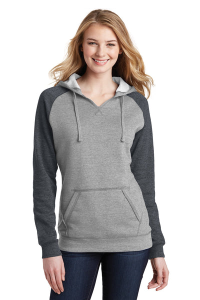 District® Juniors Lightweight Fleece Raglan Hoodie.  DT296
