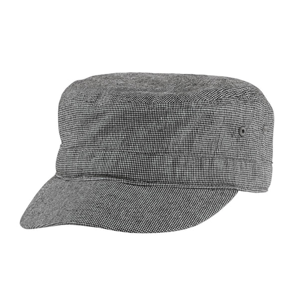 District® - Houndstooth Military Hat DT619