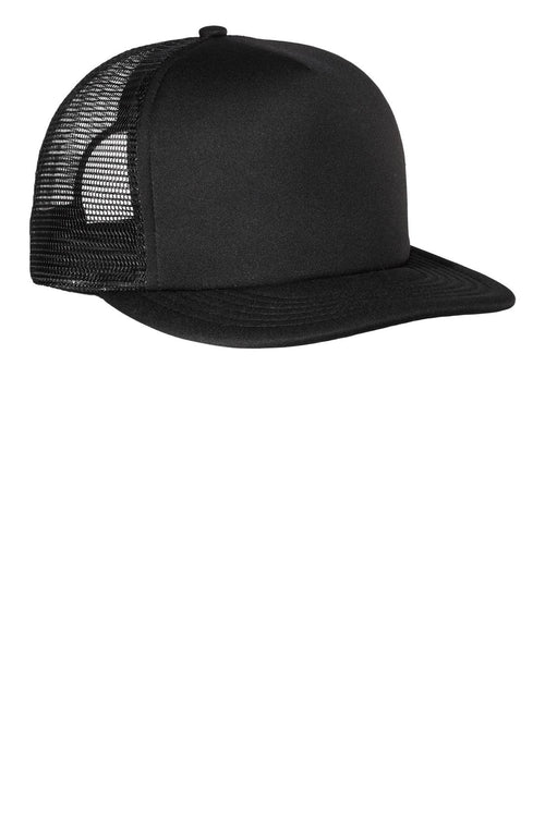 District® - Flat Bill Snapback Trucker Cap. DT624