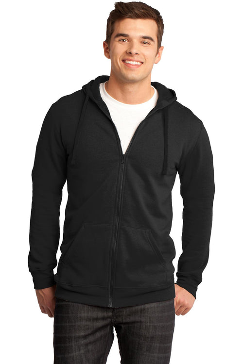 District® - Young Mens The Concert Fleece® Full-Zip Hoodie. DT800