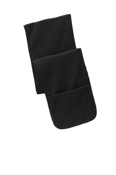 Port Authority® Extra Long Fleece Scarf with Pockets. FS06