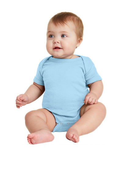 Rabbit Skins™ Infant Short Sleeve Baby Rib Bodysuit. RS4400