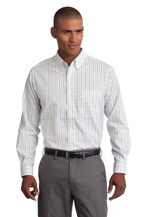 Port Authority® Tall Tattersall Easy Care Shirt. TLS642