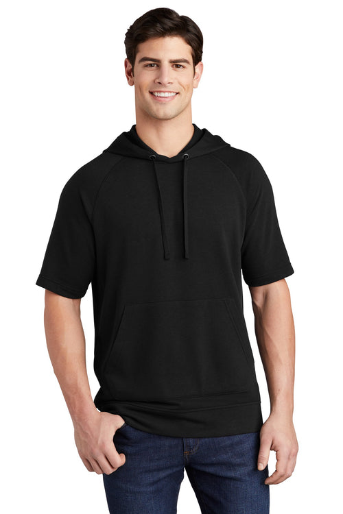 Sport-Tek ® PosiCharge ® Tri-Blend Wicking Fleece Short Sleeve Hooded Pullover ST297