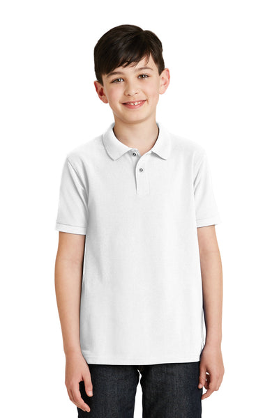Port Authority Youth Silk Touch Polo Y500 Royal S