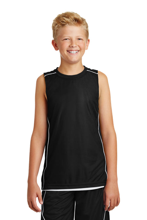 Sport-Tek® Youth PosiCharge® Mesh Reversible Sleeveless Tee. YT555