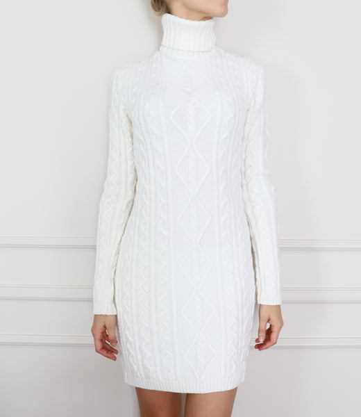 Knitted polo dress