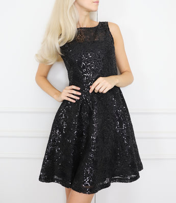 Embellished lace dress