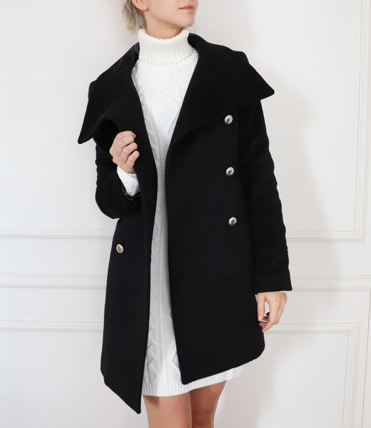 Cashmere and silk-blend coat