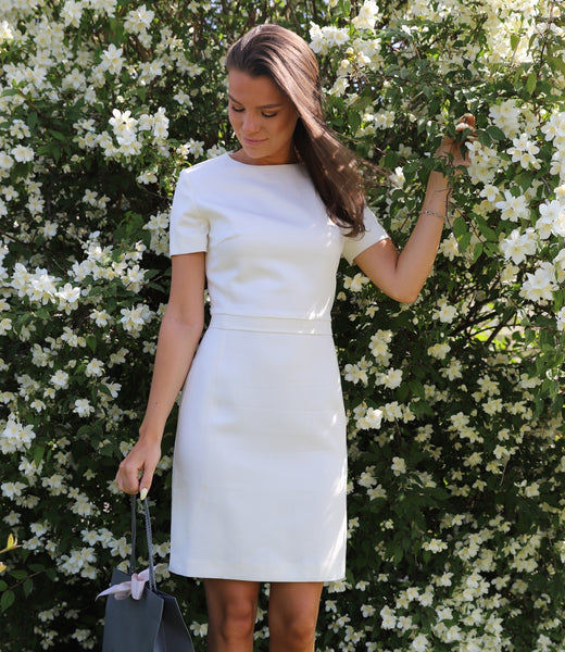 White slim dress