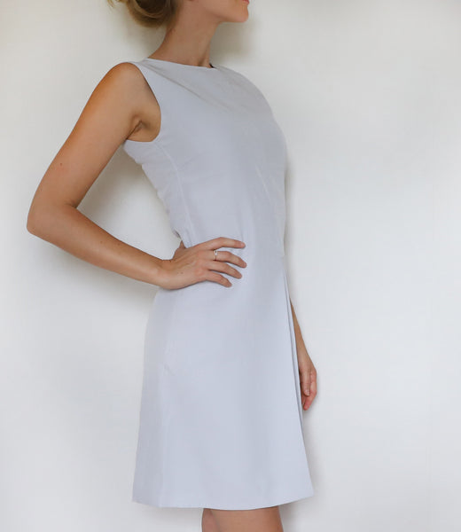 Dove grey folded dress