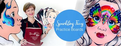 Sparkling Faces Practice Boards