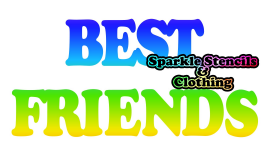 Best Friend Glitter Tattoo (set of 5)