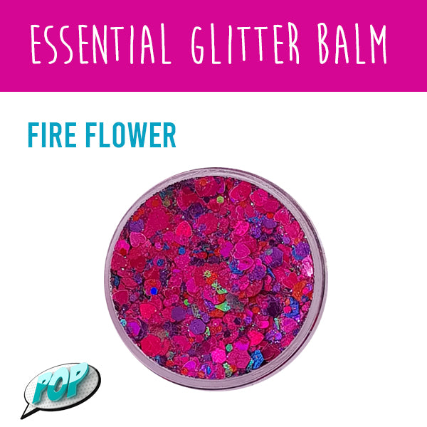 Essential Glitter Balm Fire Flower 10g