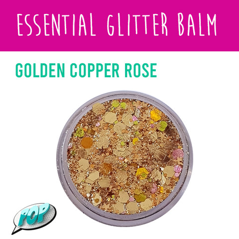 Essential Glitter Balm Golden Copper Rose 10g