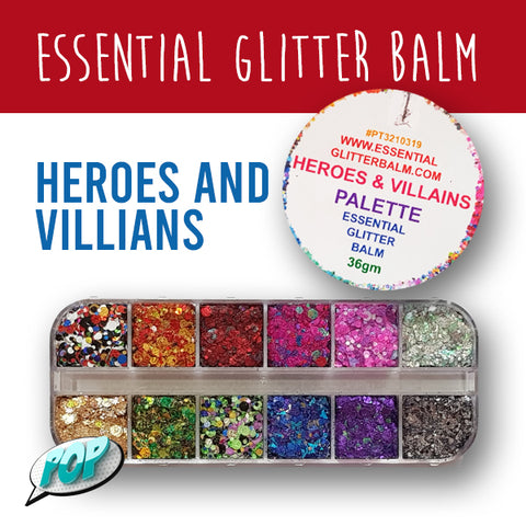 Essential Glitter Balm Heroes and Villian Palette