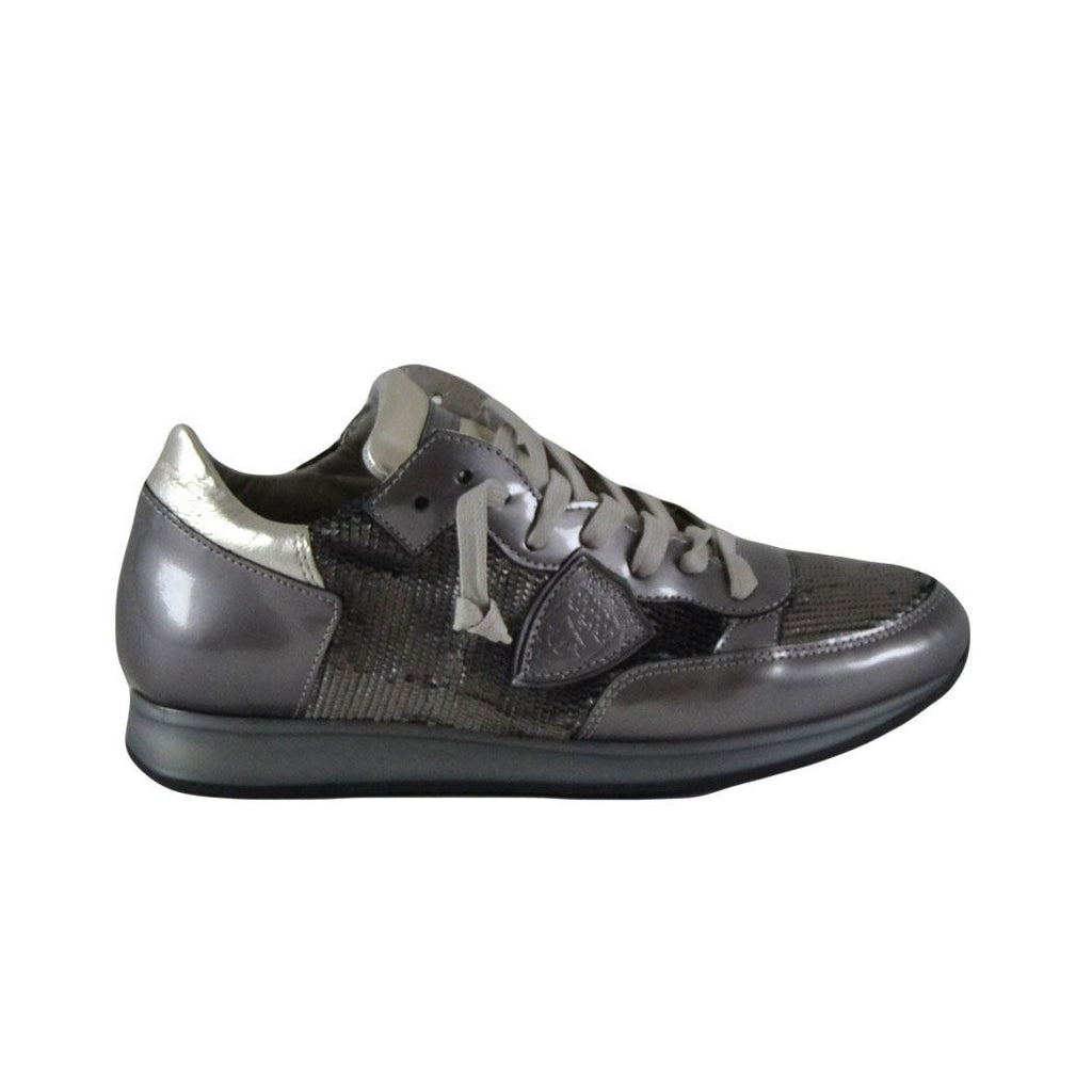 Philippe Model Paris sneakers basse donna tropez canna di fucile squamate
