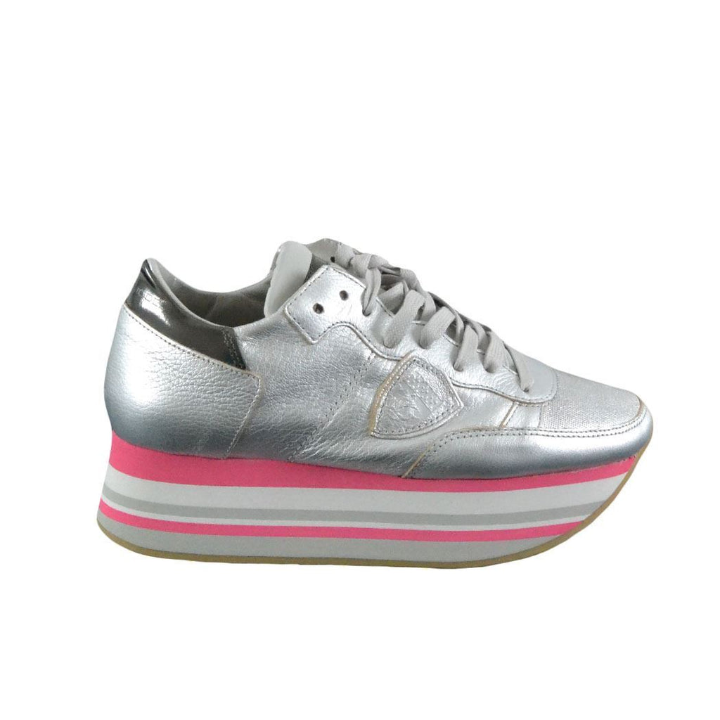 Philippe Model Eiffel sneakers donna argento