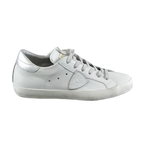 Philippe Model Classic sneakers basse donna bianche e argento