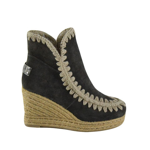 Mou stivali donna ESKIMO WEDGE SHORT grigi