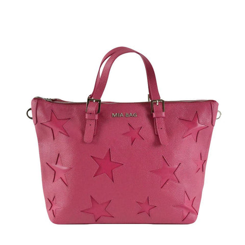 Mia Bag shopper con stelle fucsia