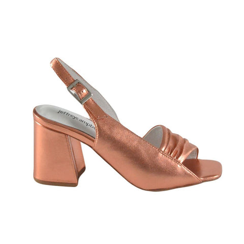 Jeffrey Campbell Sandali con tacco rose gold