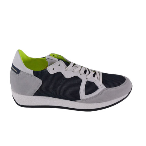 Philippe Model Paris Monaco sneakers basse uomo grigie e blue