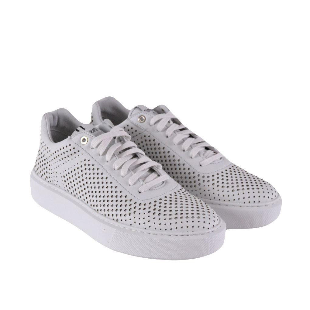 Thoms Nicoll sneakers basse forate bianche