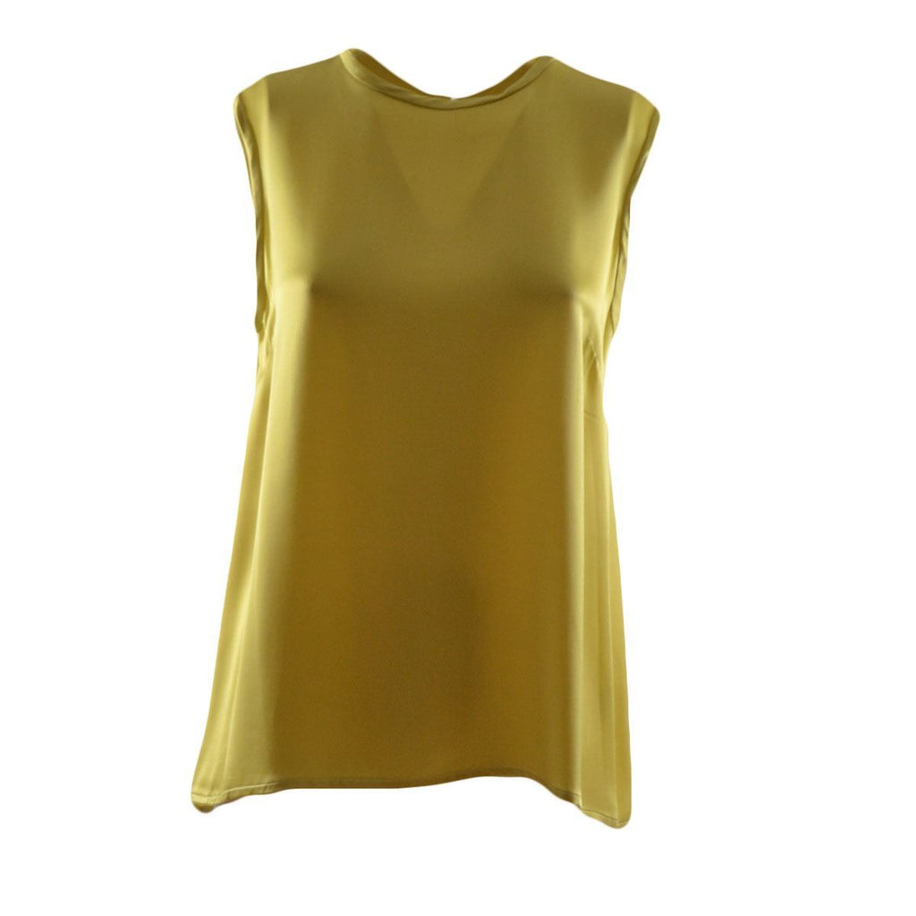 ottod'Ame top in seta donna smanicato lime