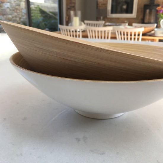 Bamboo Bowl - Coupe White Lacquer