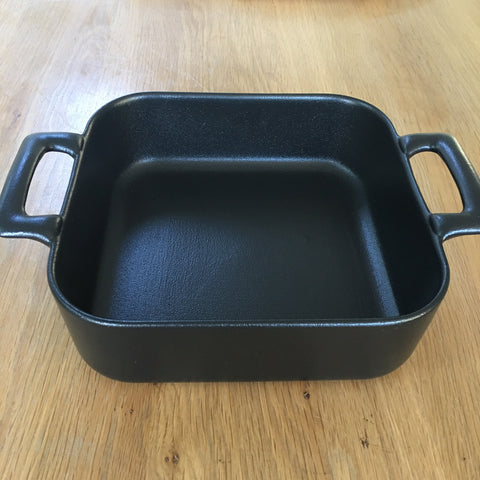 Small Ceramic Deep Square Baking Dish - Black