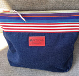 Canvas Wash Bag - Recycled Jeans
