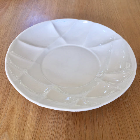 Ceramic Deep Plate - White