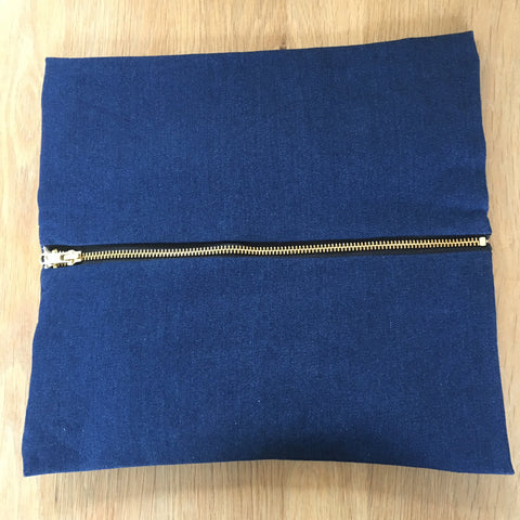 Clutch Bag - Denim, Leather Strap